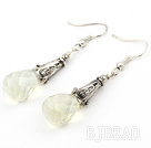 Classic Design Milky Color Drop Shape Faceted Crystal Earrings under $ 40