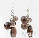 Dangle Style Assorted Smoky Quartz Earrings