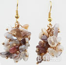 Cluster Style Persian Gray Agate Earrings under $ 40
