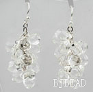 Cluster Style Clear Crystal Earrings