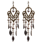 Dangle Style Three Color Manmade Crystal Earrings