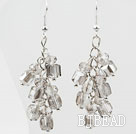 Cluster Style Gray Crystal Earrings