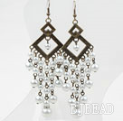 Vintage Style Acrylic Pearl Long Earrings