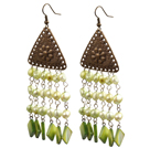 New Design White Shell Flower and Abalone Shell Earrings under $ 40