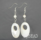 white pearl and shell earrings under $ 40