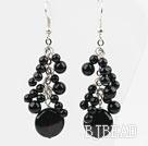 Black Series Assorted Black Agate Earrings