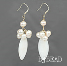 white pearl shell earrings under $ 40