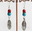 turquoise and bloodstone earrings under $ 40