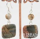 pattern agate earrings