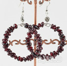 Large-diameter circle fashion garnet earrings under $ 40