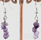 natural amethyst chips earrings under $ 40