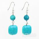 blue spider earrings