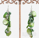 dyed green pearl shell earrings under $ 40