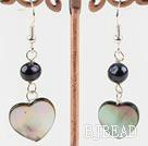 black pearl lip shell earrings under $ 40