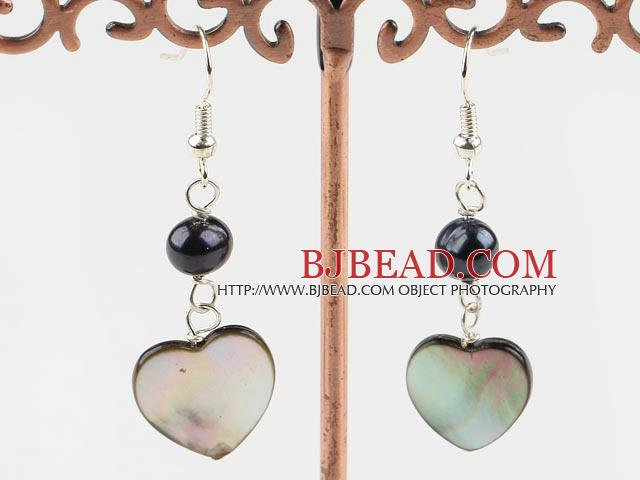 black pearl lip shell earrings