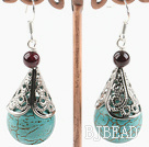 turquoise and garnet earrings
