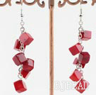 6mm coral earrings