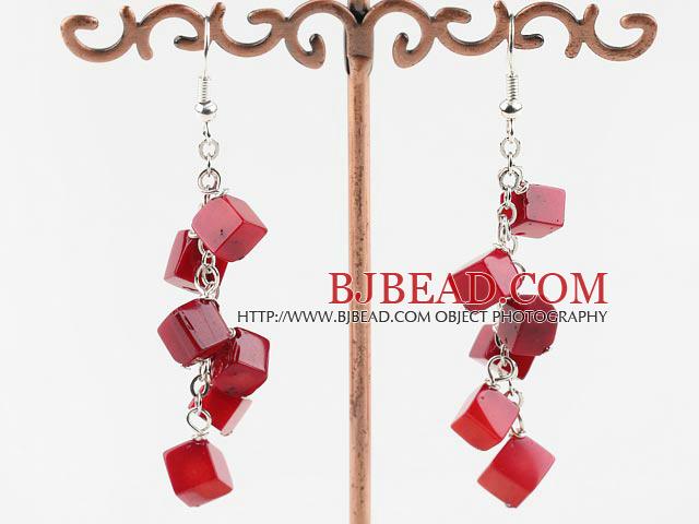 6mm coral earrings