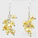 Dyed Yellow Freshwater Pearl Earrings under $ 40