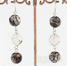 melting crystal dangle earrings