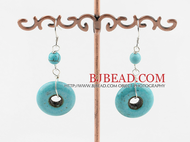 burst pattern turquoise earrings
