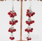 red alaqueca dangle earrings
