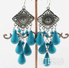 chandelier shape blue turquoise chandelier earrings under $5