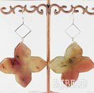52mm three colored jade earrings