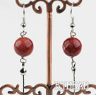 Dangle Style Grass Coral Long Earrings