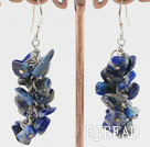 lapis chips earrings