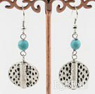 turquoise and tibet sivler earrings