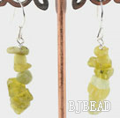 Olive stone earrings