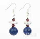 coin pearl and lapis earrings