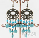 chandelier shape turquoise earrings