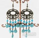 chandelier shape turquoise earrings under $ 40