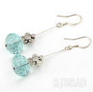 switzerland blue crystal earrings
