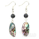 abalone shell and labradorite earrings