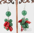aventurine red coral earrings