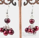 cute dyed pearl earrings under $ 40