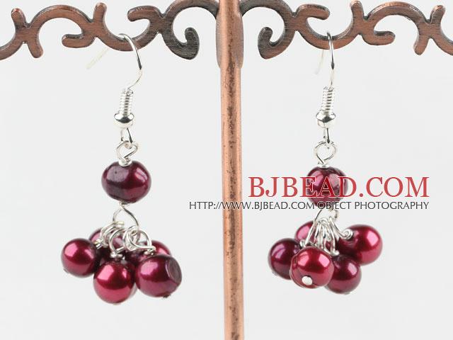 cute dyed pearl earrings