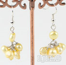 dyed yellow earrings under $ 40