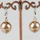 12mm gold color acrylic pearl earrings