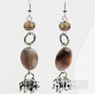 New Design Persian Agate and Crystal Dangle Earrings