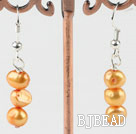 dyed orange pearl earrings under $ 40