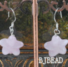 starfish rose quartze earrings