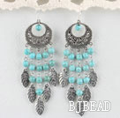popular burst pattern turquoise earrings