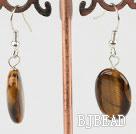 tiger eye earrings dyed green pearl earrings