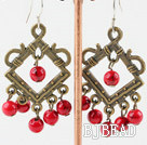 chandelier shape blood stone earrings