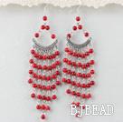 chandelier shape  bloodstone earring under $ 40