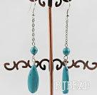 dangling turquoise earrings